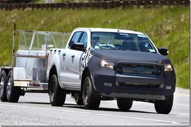Ford Ranger 2015 é flagrada em testes