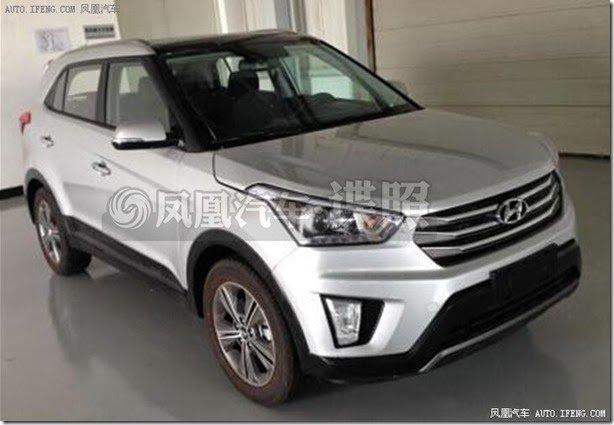 Hyundai iX25 é flagrado com visual de produção na China