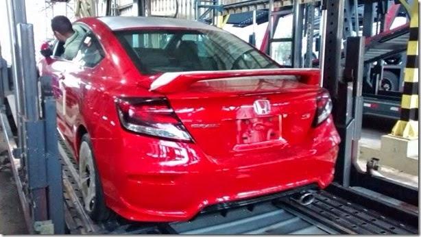 Novo Honda Civic Si já começou a ser transportado