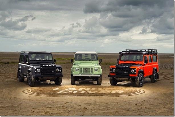 Land Rover Defender ganha séries de despedida