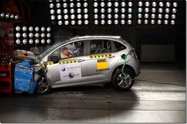 Citroën C3 recebe quatro estrelas no Latin NCAP