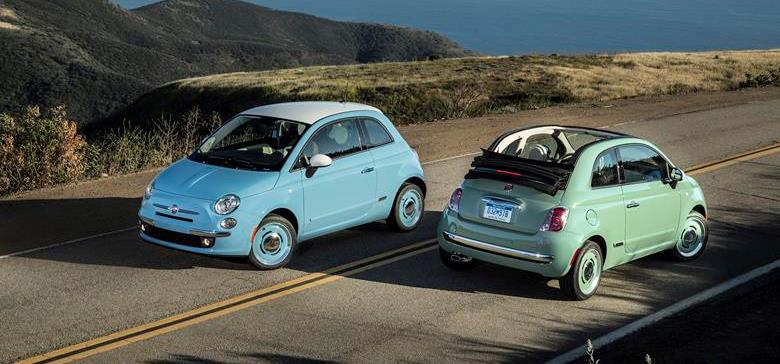 2015 Fiat 500 1957 Edition Hatchback and Cabrio