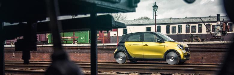 """Smart transforma ForFour em """"mini trem"""" no Reino Unido"""