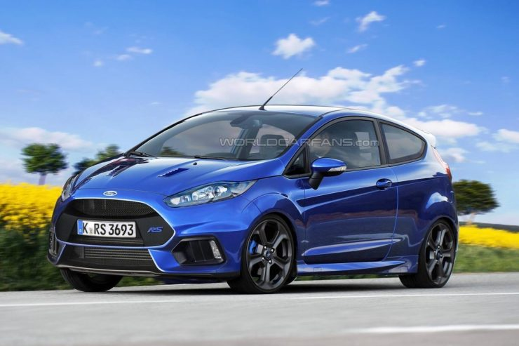 Projeção do Ford Fiesta RS (Wordcarfans)