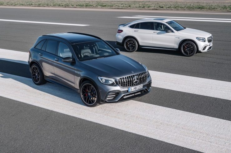 Mercedes-AMG GLC 63 S 4MATIC+, 2017; Mercedes-AMG GLC 63 S 4MATIC+ Coupé, designo diamantweiß bright ;Kraftstoffverbrauch kombiniert: 10,7  l/100 km; CO2-Emissionen kombiniert: 244  g/kmMercedes-AMG GLC 63 S 4MATIC+, 2017; Mercedes-AMG GLC 63 S 4MATIC+ Coupé, designo diamond white bright; Fuel consumption combined: 10.7 l/100 km; combined CO2 emissions: 244 g/km