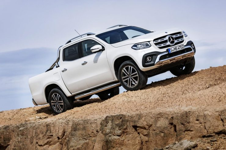Mercedes-Benz apresenta a picape média Classe X, que será vendida no Brasil em 2018