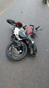 Moto que Ramon pilotava na hora do acidente.