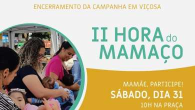 Photo of PARTICIPE DA II HORA DO MAMAÇO NESTE SÁBADO (31)