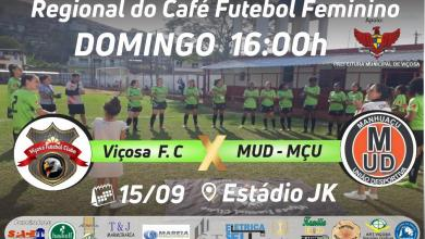 Photo of Viçosa F. C. disputa vaga para a final da regional do café futebol feminino
