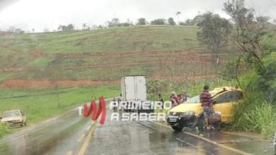 Photo of Carro com placa de Ervália roda na pista e se envolve em acidente na Serra de São Geraldo