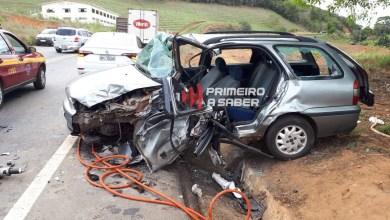 Photo of Acidente grave entre dois carros na rodovia que liga Viçosa a Teixeiras