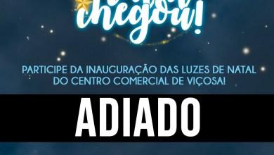 Photo of Inauguração das luzes de natal do centro comercial de Viçosa será adiada