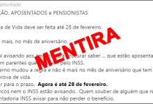Photo of INSS: mensagem que circula no WhatsApp sobre mudança nas regras da prova de vida é falsa