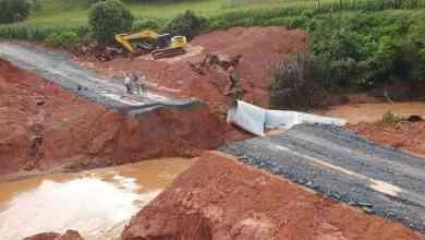 Photo of Desvio na estrada entre Ervália e Coimbra, próximo aos Quartéis, é destruído por conta das chuvas