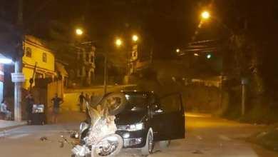 Photo of Motociclista colide com carro no Amoras