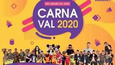 Photo of Confira a programação do Carnaval 2020 em São Miguel do Anta