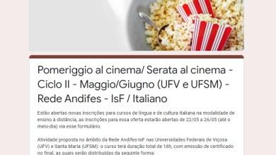 Photo of Inscrições abertas para cursos on-line e gratuitos de língua e cultura italiana