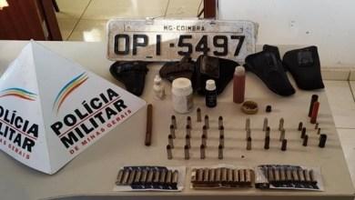 Foto de PM apreende munições em Paula Cândido