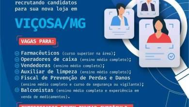 Photo of Drogaria Indiana abre vagas de emprego em Viçosa