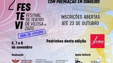Foto de Festival de Teatro de Viçosa está com inscrições abertas