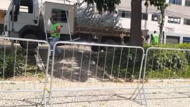 Foto de Prefeitura de Viçosa instala gradis nas áreas centrais da cidade