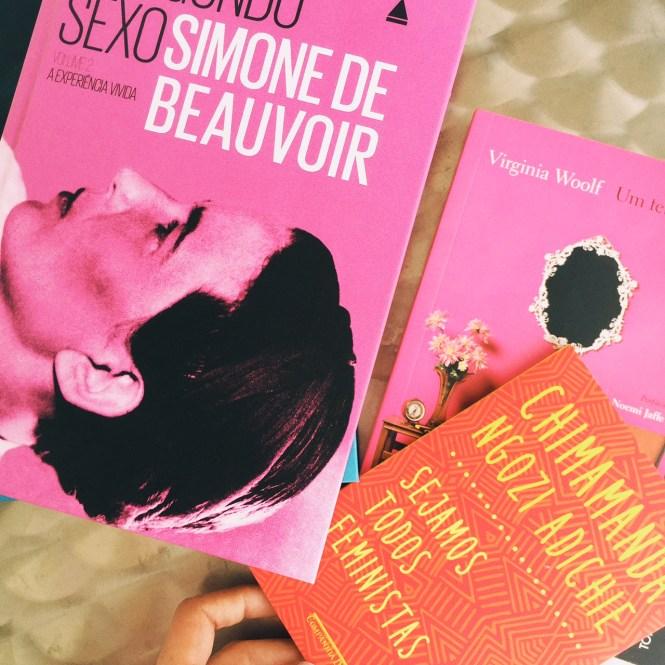 Livros feministas - Simone de Beauvoir, Chimamanda e Virginia Wolf