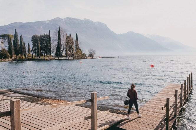 Lago de Garda no inverno