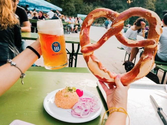 Verão em Munique - Biergarten