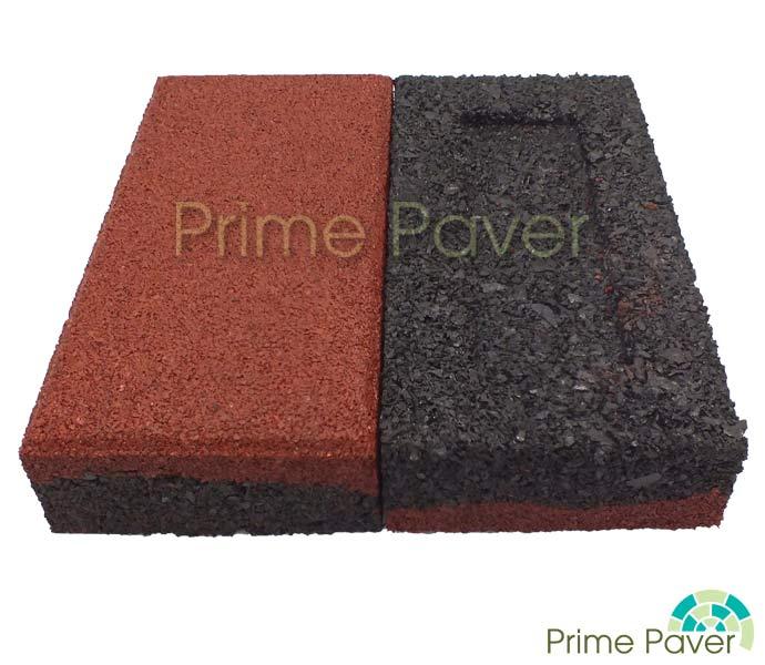 prime paver 40mm rubber brick pavers