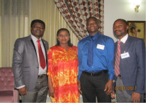 Kayode, Soriyan, Femi with deputy governor the last day of training