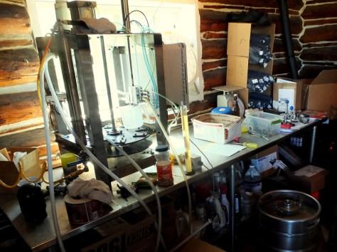 Coyote Creek Brewery bottling machine