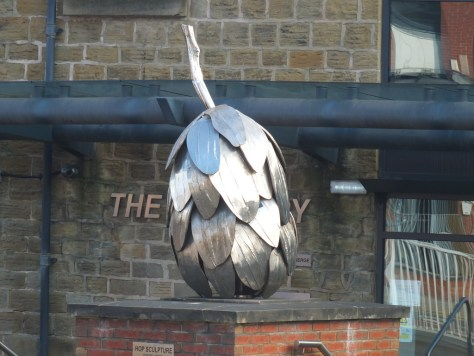 Hops sculpture