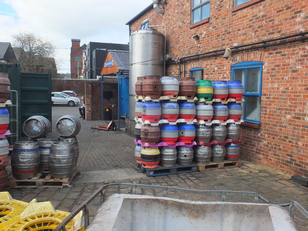 Kelham Island Brewery yard