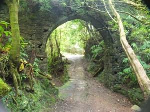 beneath an aqueduct