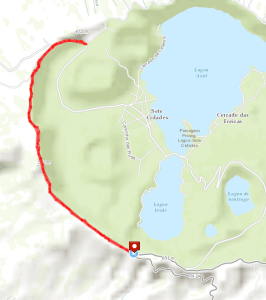 Sete Cidades rim hike map