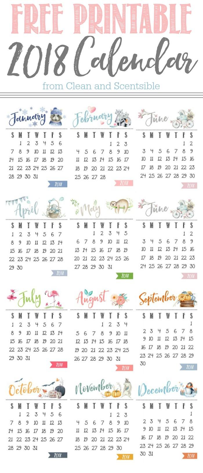 Cute Yearly Calendar Template | Calendar Template ...