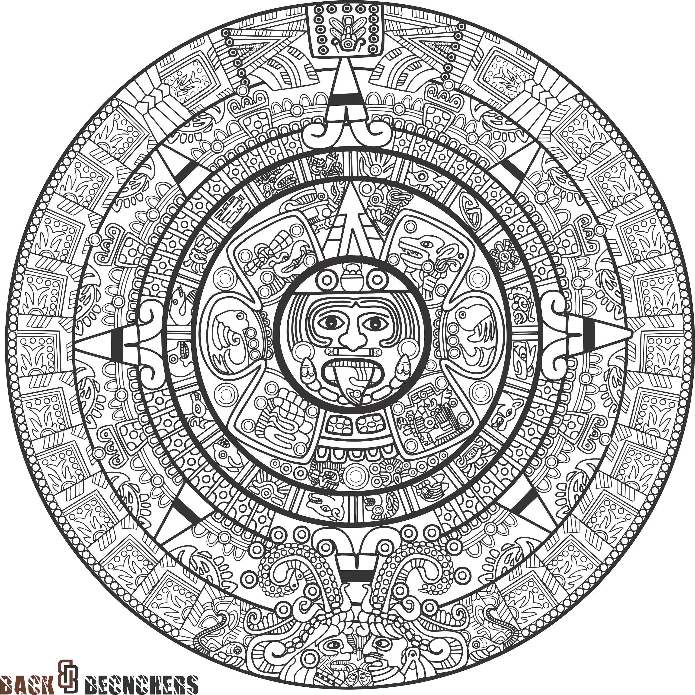Aztec Calendar Printable Template