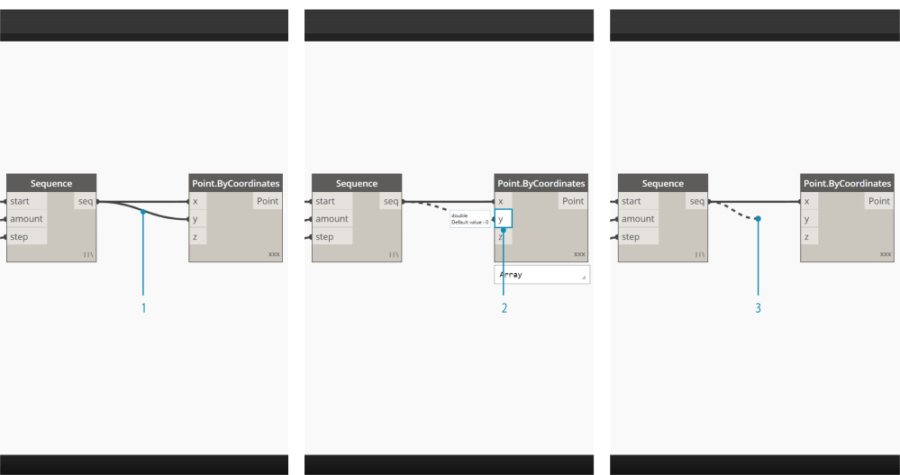 medium resolution of to edit a wire left click on the input port of the node that is already connected you now have two options