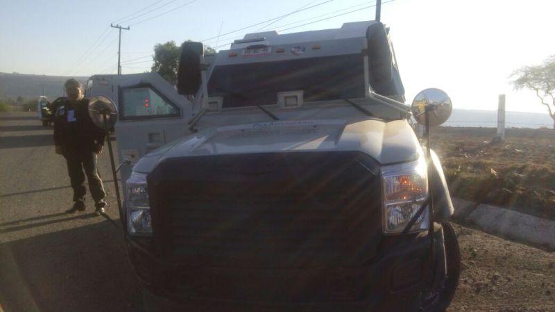 camioneta seguridad blindada choque