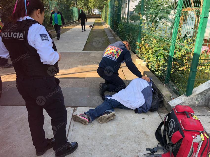 Hombre sufre derrame ocular en pleno Centro de Morelia - Primera Plana Noticias