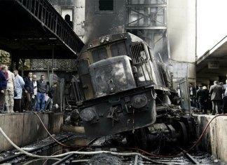Choque e incendio de tren dejan 20 muertos en El Cairo