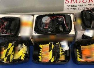 Aseguran más de 600 cartuchos útiles ocultos en bocinas