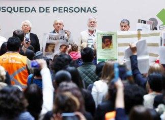 Más de 40 mil desaparecidos, `herencia más triste´: AMLO
