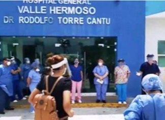 Protestan médicos del Hospital de Valle Hermoso