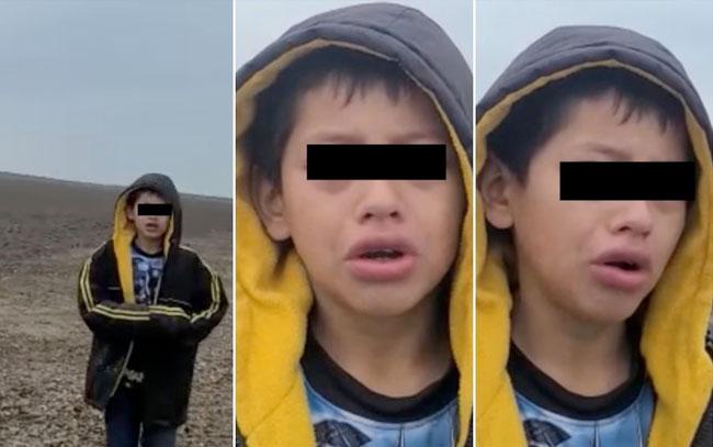 Niño pide ayuda tras ser abandonado en frontera México-EU