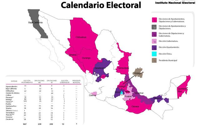 Participan diez partidos políticos en comicios de este año