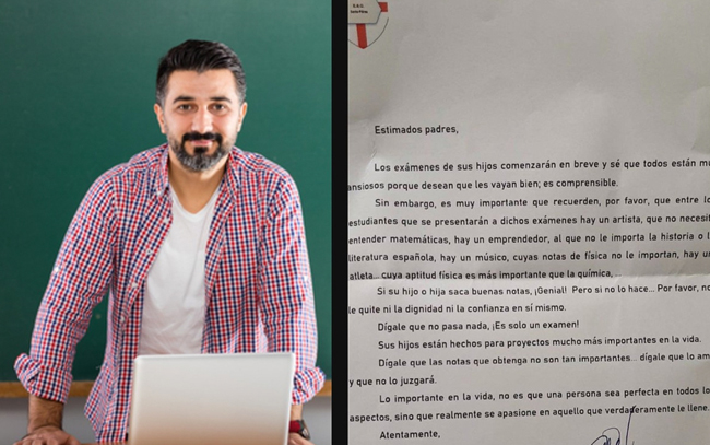 Profesor se vuelve viral por carta a papás