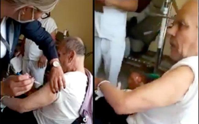 contra enfermera que le aplicó vacuna anticovid