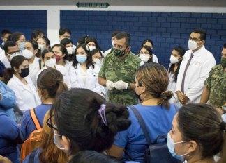 Colabora UAT en vacunación anticovid en el Campus Tampico