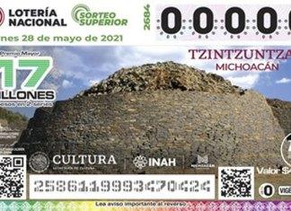 Exhiben la belleza de Michoacán en billete de lotería